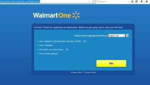 walmartone login and registration
