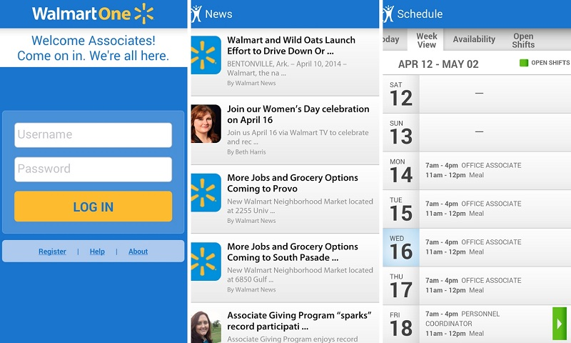 online schedules for employees