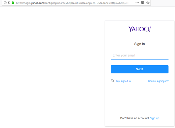 ymail sign in page